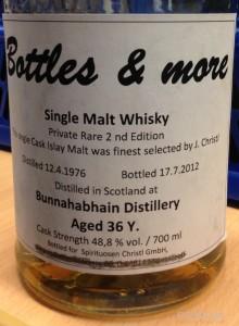 Bunnahabhain, 36yo, Bottles&More