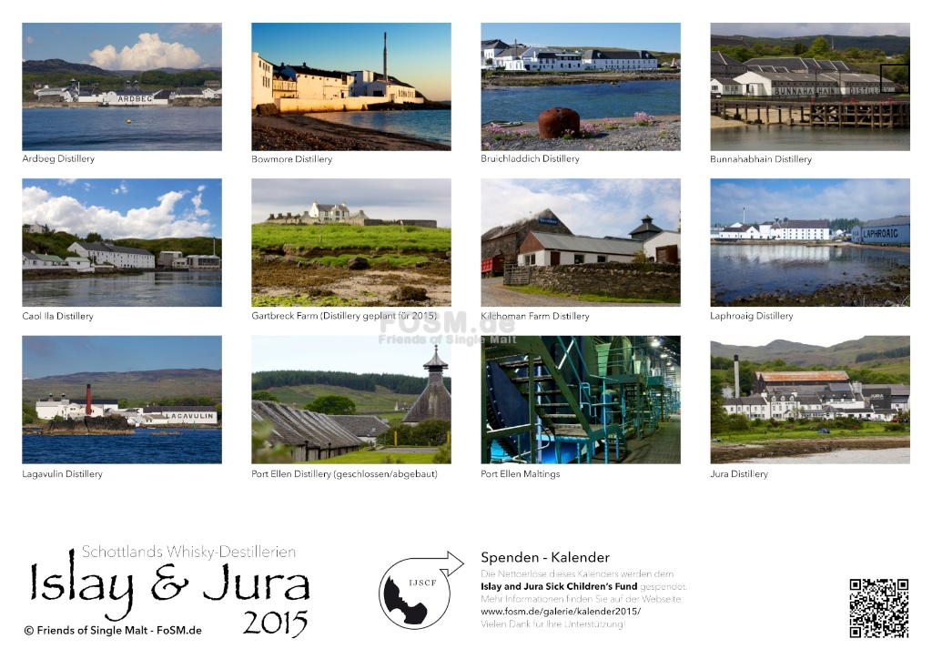 Kalender für Islay and Jura sick Children's Fund