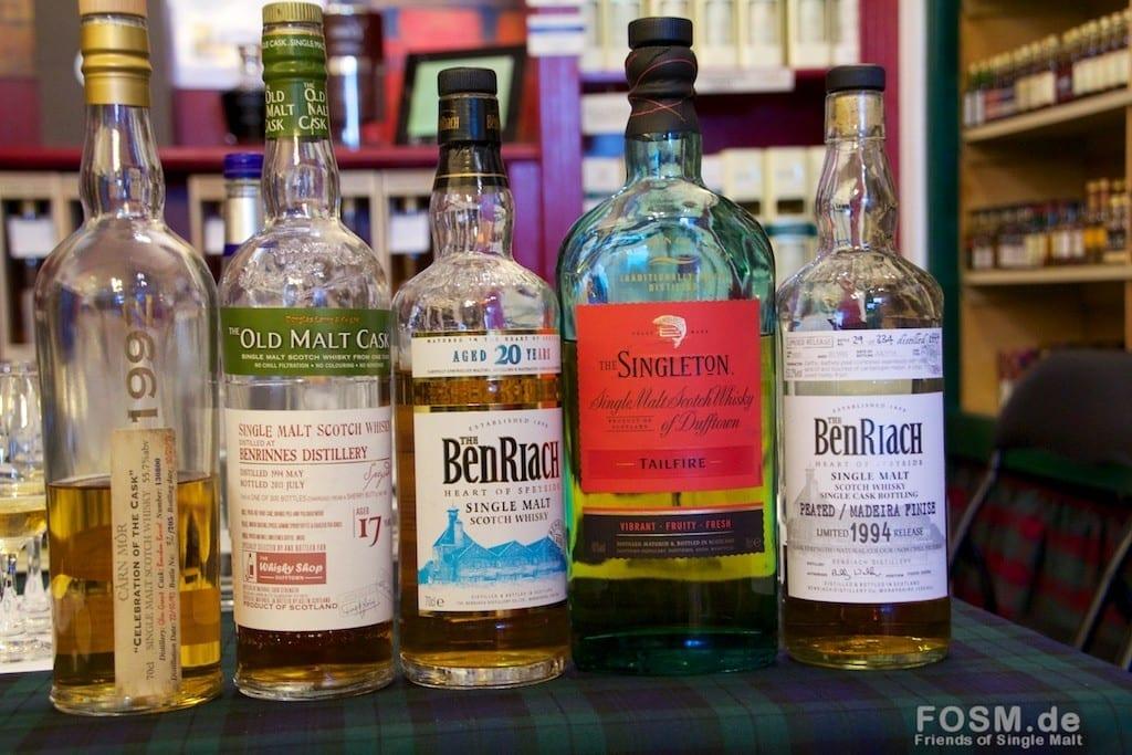 Im Whiskyshop Dufftown