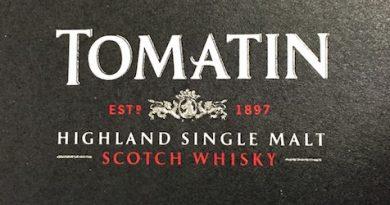 Tomatin Logo auf dem Deckel der Schachtel