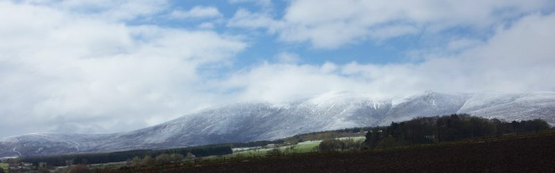 Snow on Ben Rinnes during SoSWF 2015