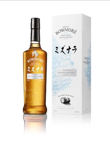 Bowmore Mizunara bottle + box with tag