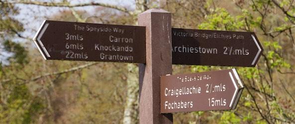 Viele Orte sind von Aberlour auch zu Fuß erreichbar