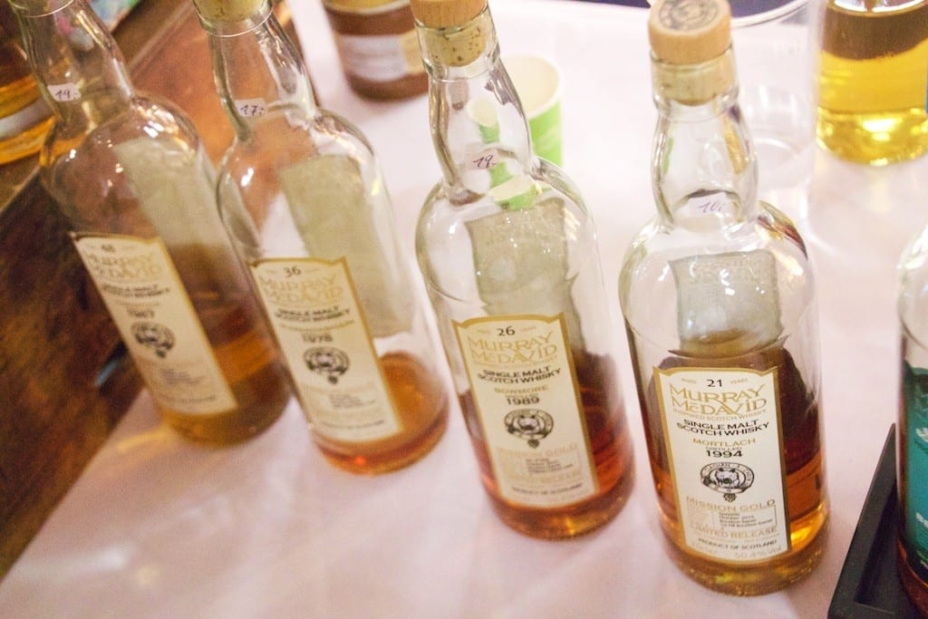 Vier aus der Mission Gold Serie waren am Stand von Whiskymax zu probieren.