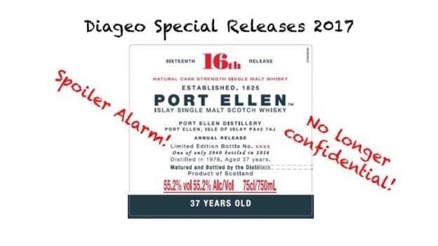 Diageo Special Release 2017 - Spoiler Alarm