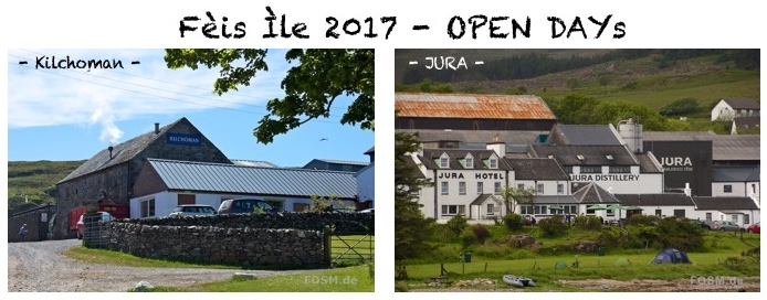 Open Day bei Kilchoman und Jura