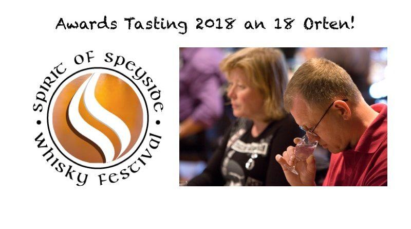 Weltweite Awards Tastings 2018 des Spirit of Speyside Whisky Festivals