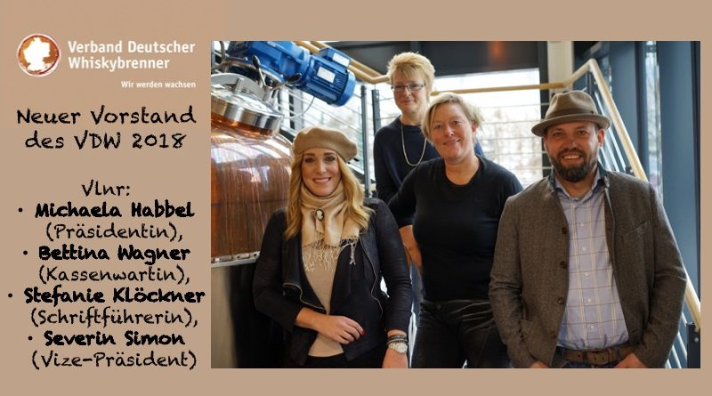 Vorstand des VDW 2018 - Vlnr: Michaela Habbel (Präsidentin), Bettina Wagner (Kassenwartin), Stefanie Klöckner (Schriftführerin), Severin Simon