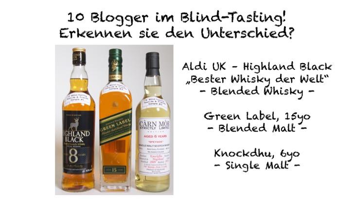 Blind Tasting 2 - Whisky Typ
