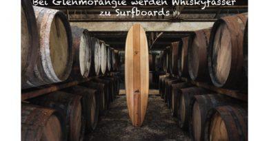 Surfbretter aus Whiskyfässern
