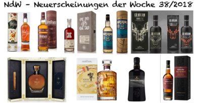Whisky Neuerscheinungen der Woche 38 2018