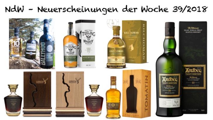 Whisky Neuerscheinungen Woche 39 2018