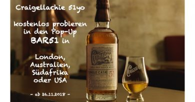 Craigellachie 51 Pop-Up Bar51