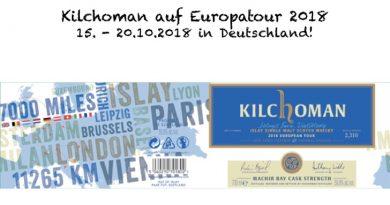 Kilchoman in Deutschland: 15.10. bis 20.10.2018
