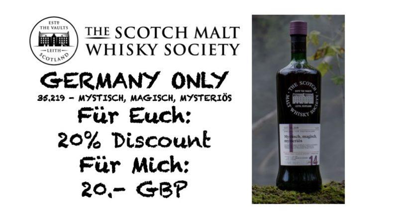 SMWS 35.219 (Germany Only) mit Mitgliedschaft und 20% Rabatt
