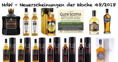 Whisky Neuerscheinungen Woche 48 2018