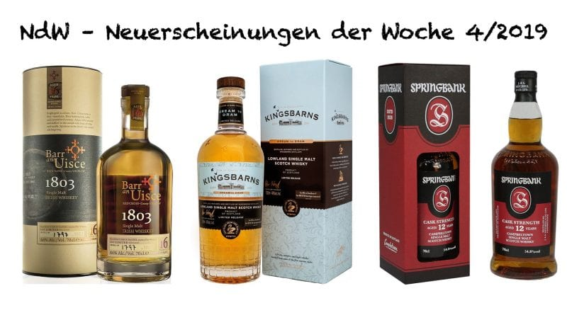 Whisky Neuerscheinungen 4|19