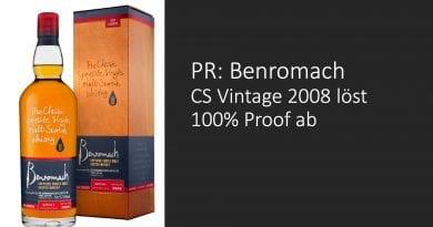 PR: Benromach Cask Strength löst 100% Proof ab
