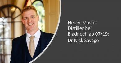 Bladnoch Master Distiller ab 07/19: Dr Nick Savage