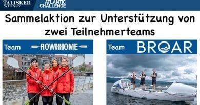 Sammelaktion für TWAC Teams RowHHome und BROAR