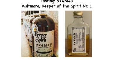 Tasting: 9Y4M4D Aultmore, Keeper of the Spirit Nr. 1