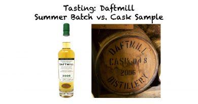 Daftmill Summer Batch 2006 vs. Cask Sample