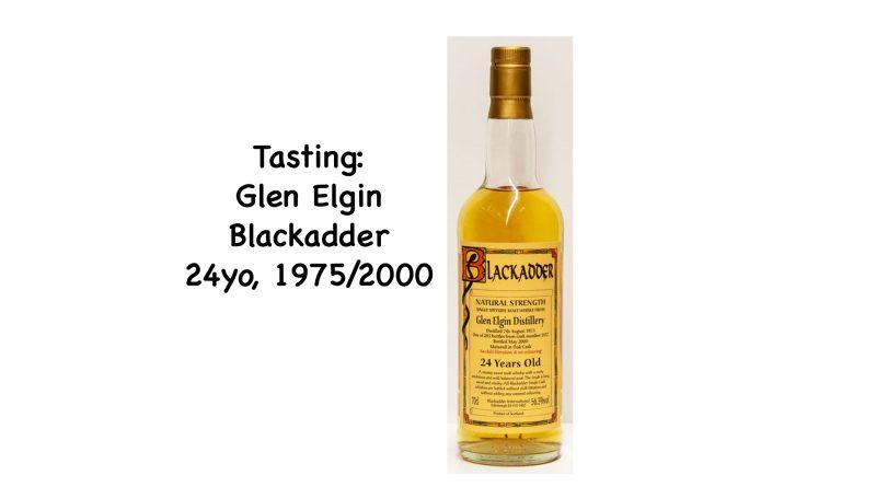 Tasting: Glen Elgin (Blackadder), 1975