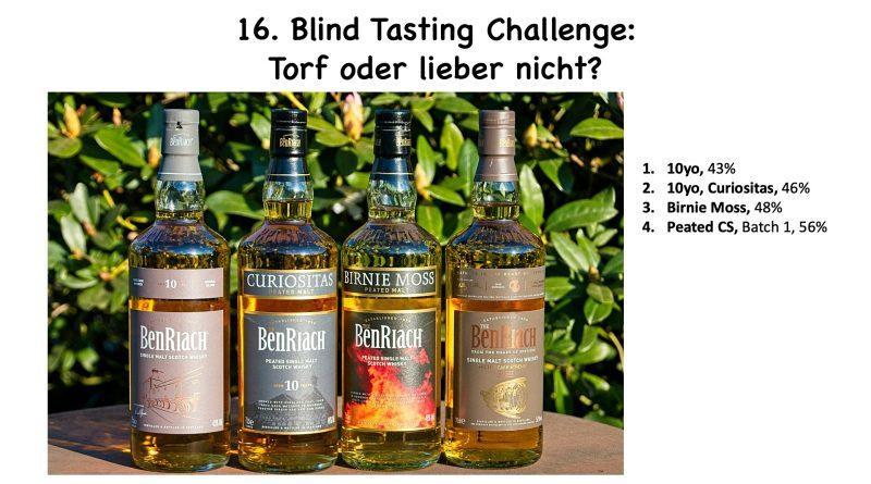 16. Blind Tasting Challenge BenRiach – Torf oder lieber nicht?