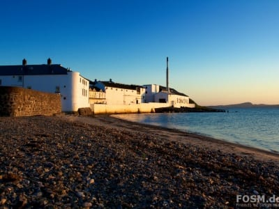 Sunset at Bowmore Distillery