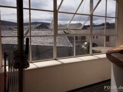 Glenfarclas Distillery - Mash House - Blick in den Hof