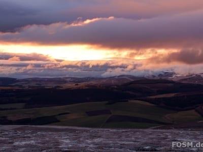 Sonnenaufgang Glenlivet Hill Trek