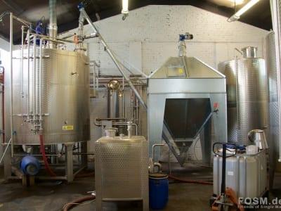 Glasgow Distillery - Malzversorgung und Mashtun