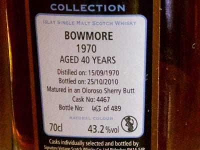 Edradour - Bowmore 1970