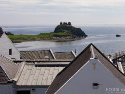Blick auf Dunyvaig Castle