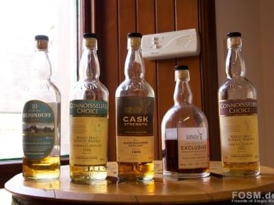 Die fünf Whiskys