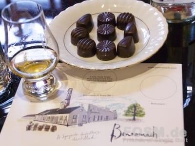 Benromach Tasting mit Schokolade