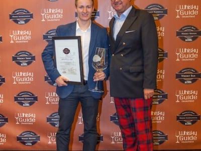 Der Gewinner der Kategorie Brennereien International der Germany's Best Whisky Awards 2014