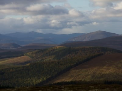 Blick in die Cairngorm Mountains