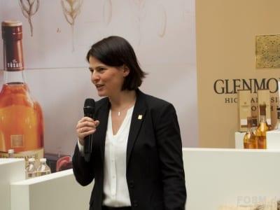 Karen Fullerton am Glenmorangie Stand