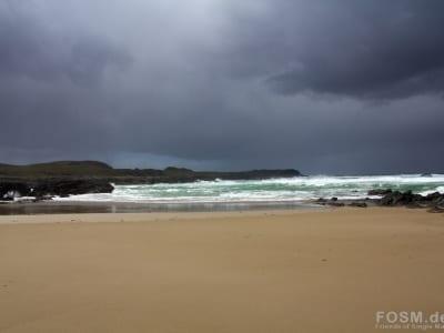 Schlechtwetterfront über Saligo Bay